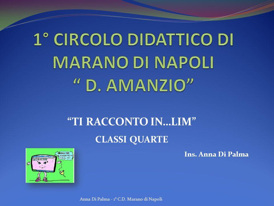 TI RACCONTO IN…LIM CLASSI QUARTE Ins. Anna Di Palma Anna Di Palma - 1° C.D. Marano di Napoli