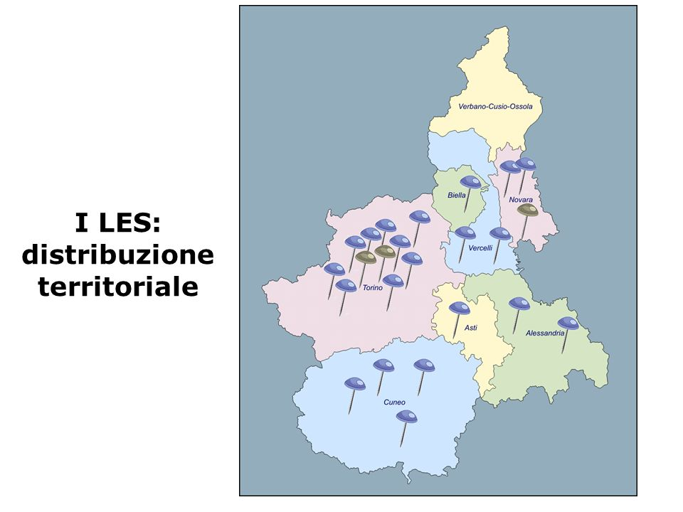 I LES: distribuzione territoriale