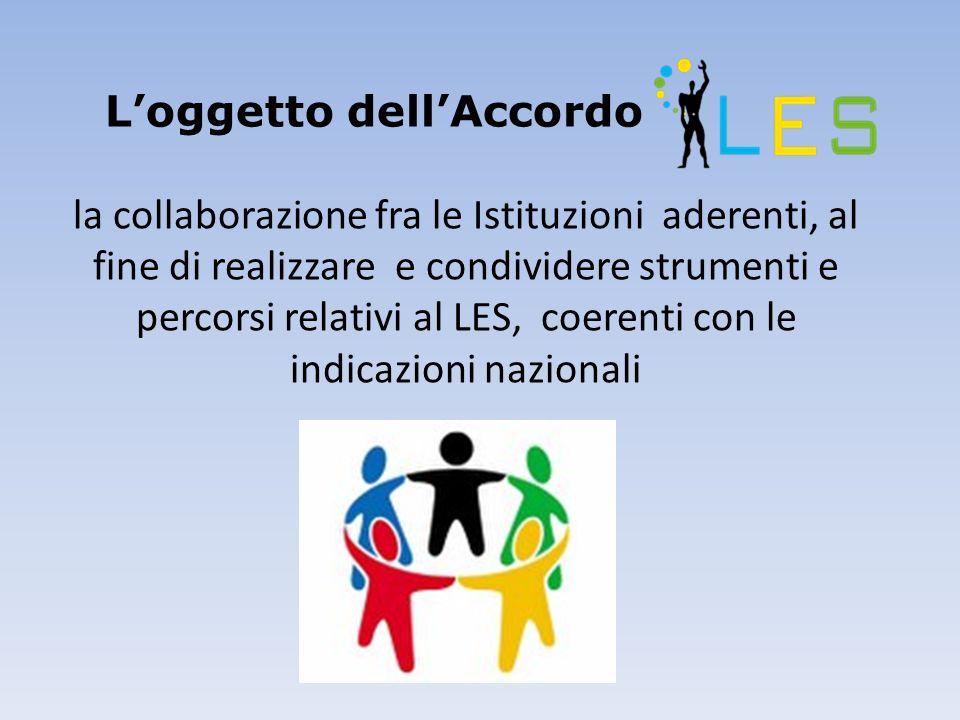 Loggetto dellAccordo la collaborazione fra le Istituzioni aderenti, al fine di realizzare e condividere strumenti e percorsi relativi al LES, coerenti con le indicazioni nazionali