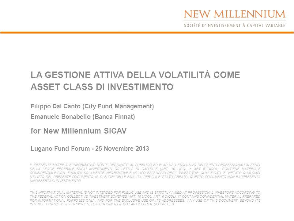 LA GESTIONE ATTIVA DELLA VOLATILITÀ COME ASSET CLASS DI INVESTIMENTO Filippo Dal Canto (City Fund Management) Emanuele Bonabello (Banca Finnat) for Ne