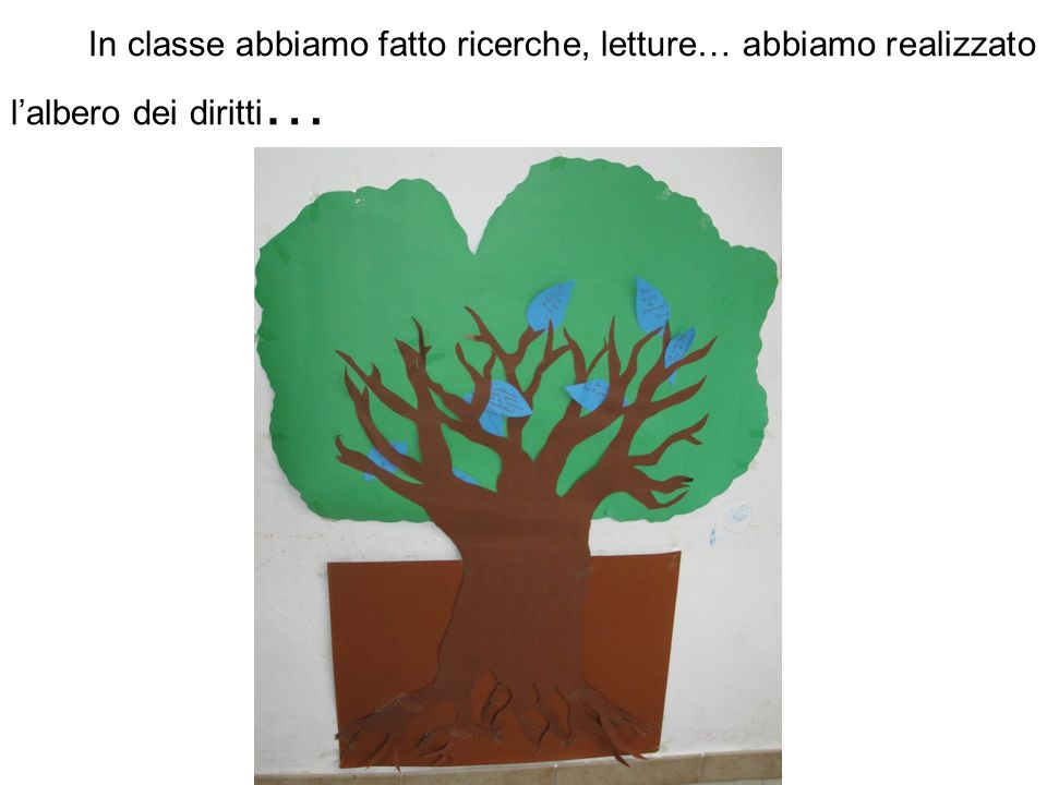 San Vincenzo La Costa, 24/01/2012 Cara Anna, io sono Pier Colombo, in questi giorni di scuola abbiamo tanto parlato di te, abbiamo conosciuto il tuo albero, abbiamo parlato della Shoah.