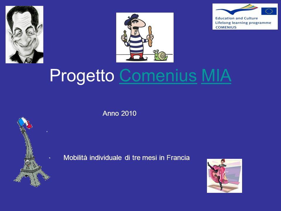 Mobilità individuale di tre mesi in Francia Anno 2010 Progetto Comenius MIAComeniusMIA
