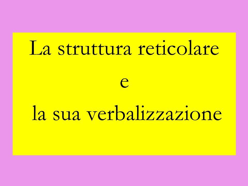 La struttura reticolare e la sua verbalizzazione