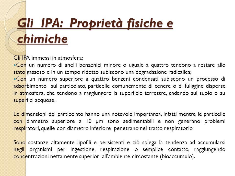 Effetti degli IPA - 1 Linquinamento atmosferico degli IPA, in alcune città, è responsabile di danni alla salute della popolazione.