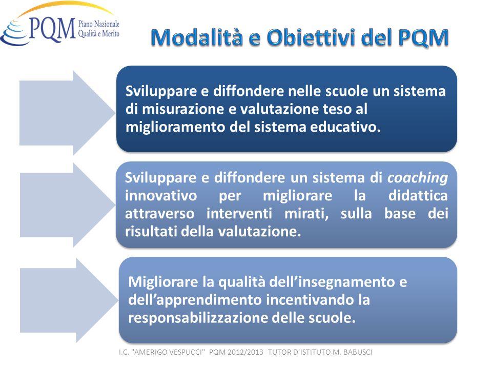 Sviluppare e diffondere nelle scuole un sistema di misurazione e valutazione teso al miglioramento del sistema educativo. Sviluppare e diffondere un s
