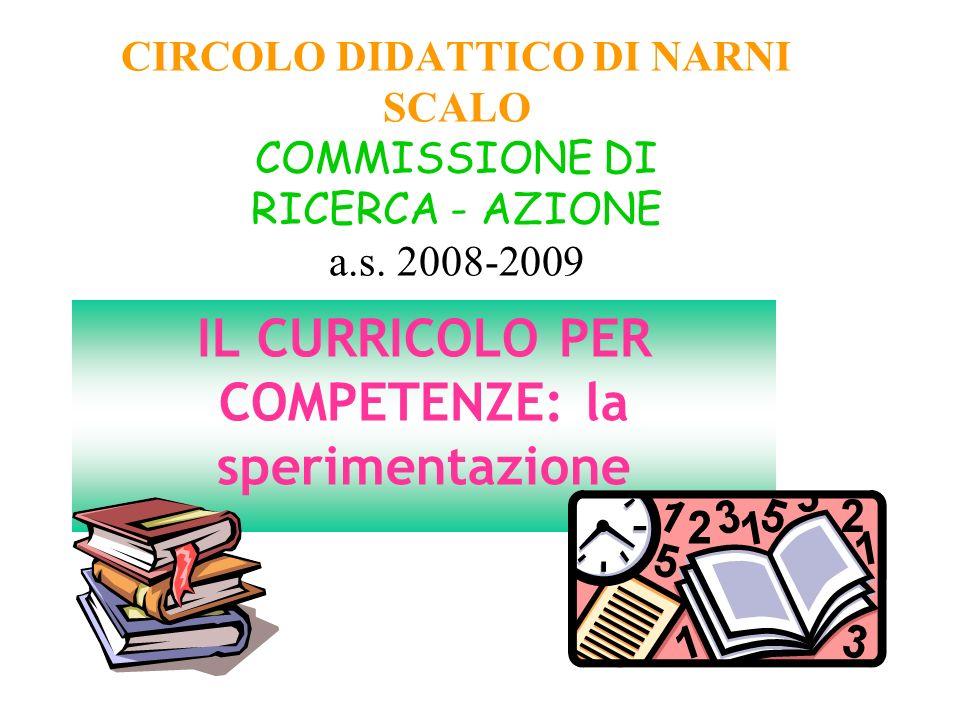 CIRCOLO DIDATTICO DI NARNI SCALO COMMISSIONE DI RICERCA - AZIONE a.s.