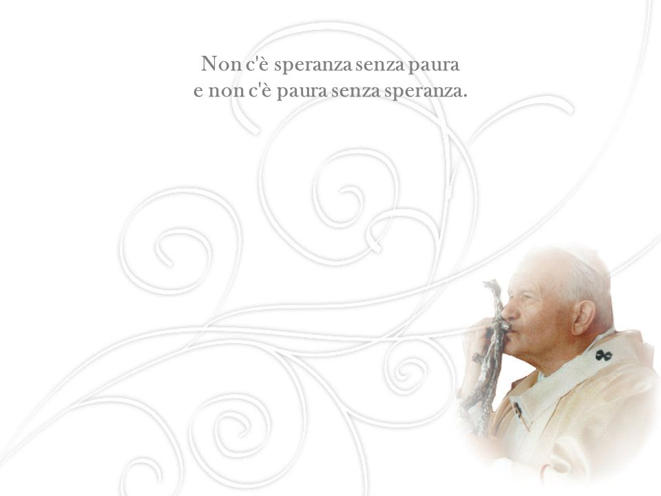 Cari amici anziani, ogni momento dell esistenza è un dono di Dio.