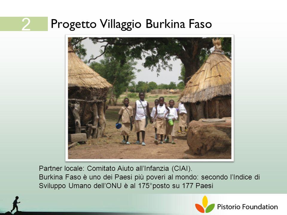 Progetto Villaggio Burkina Faso 2 Partner locale: Comitato Aiuto allInfanzia (CIAI).