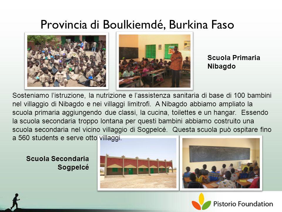 Provincia di Boulkiemdé, Burkina Faso Sosteniamo listruzione, la nutrizione e lassistenza sanitaria di base di 100 bambini nel villaggio di Nibagdo e nei villaggi limitrofi.