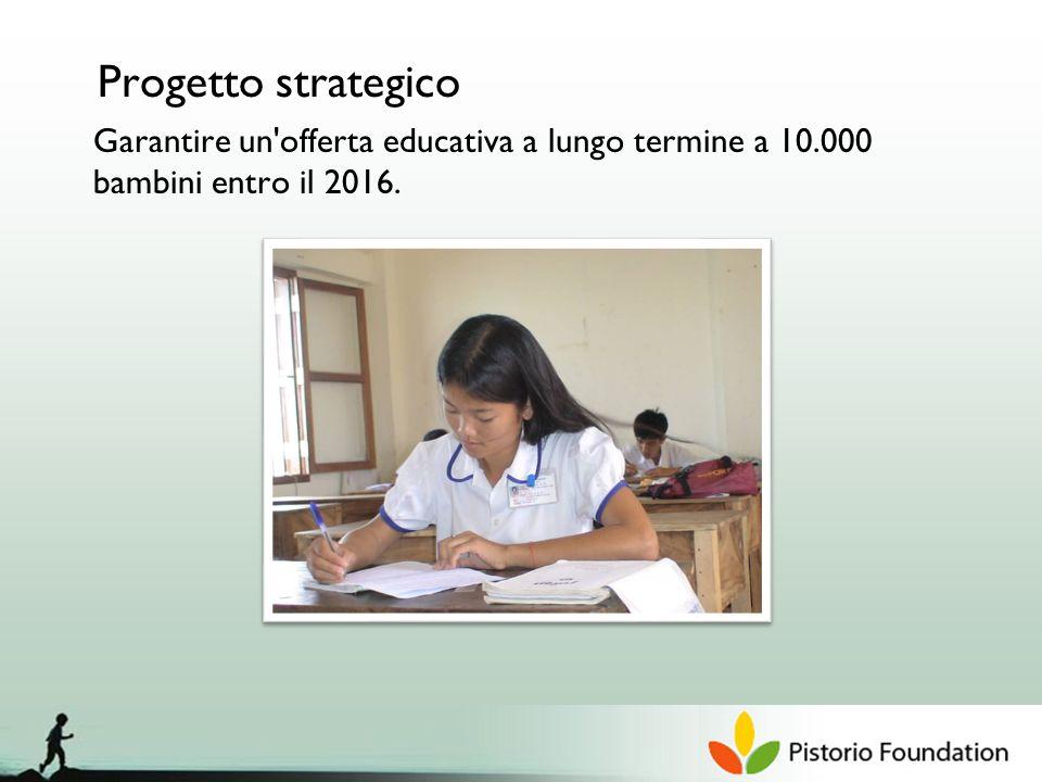 Progetto strategico Garantire un offerta educativa a lungo termine a 10.000 bambini entro il 2016.