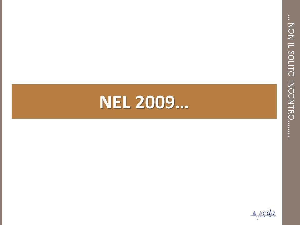 … NON IL SOLITO INCONTRO……… NEL 2009…
