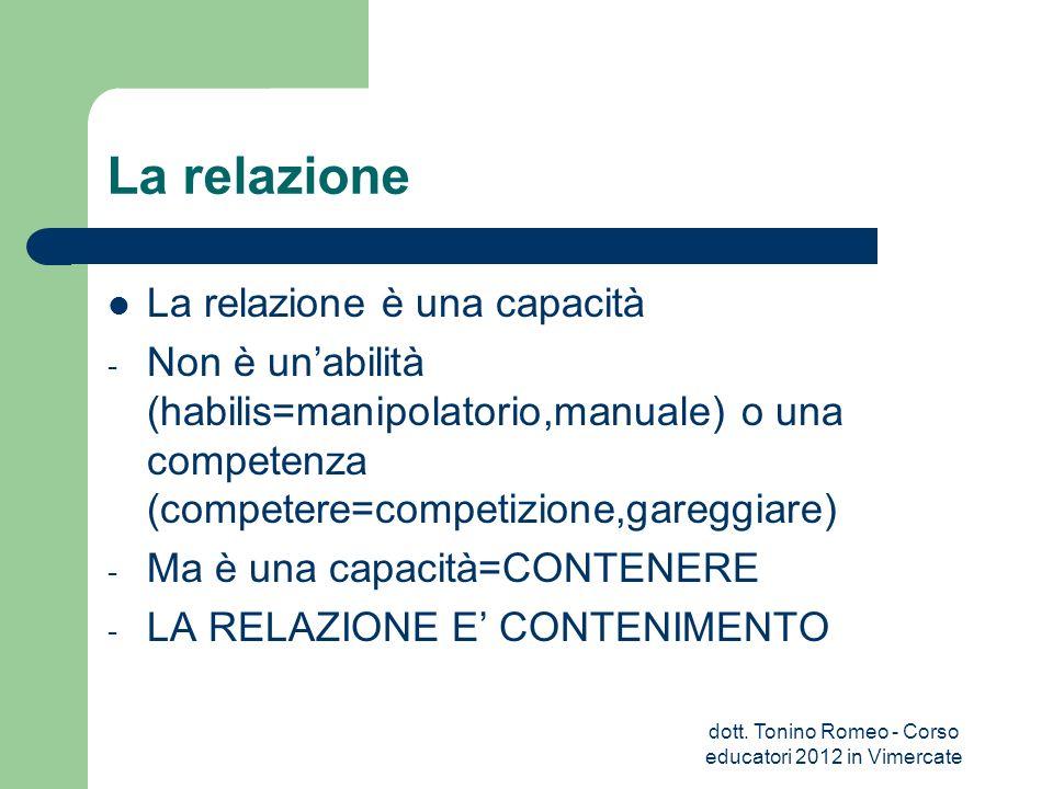 La relazione G.Blandino e B.