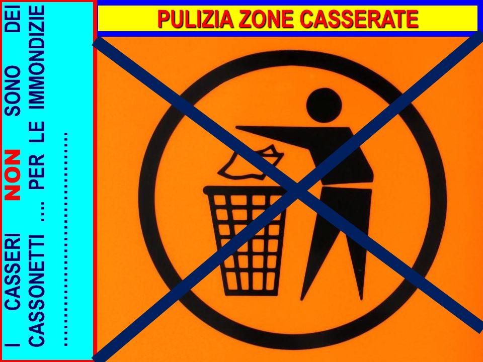 PULIZIA ZONE CASSERATE I CASSERI NON SONO DEI CASSONETTI …. PER LE IMMONDIZIE ……………………………….