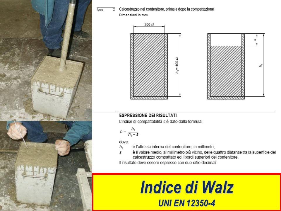 Indice di Walz UNI EN 12350-4