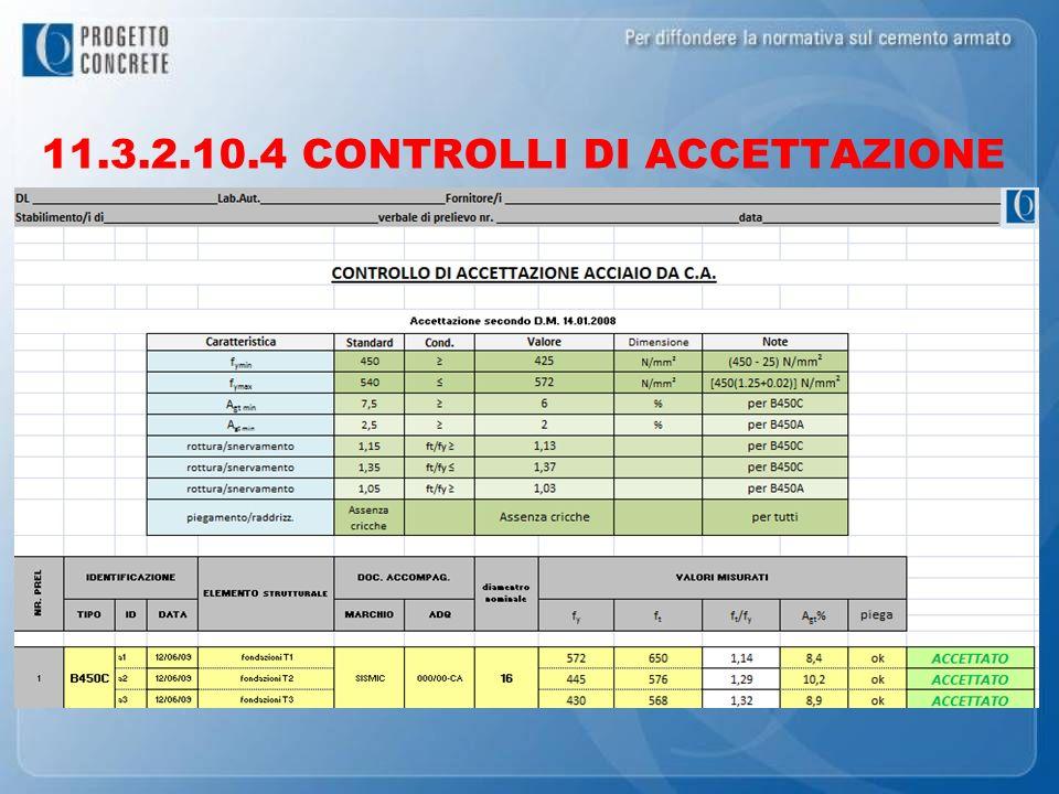 11.3.2.10.4 CONTROLLI DI ACCETTAZIONE
