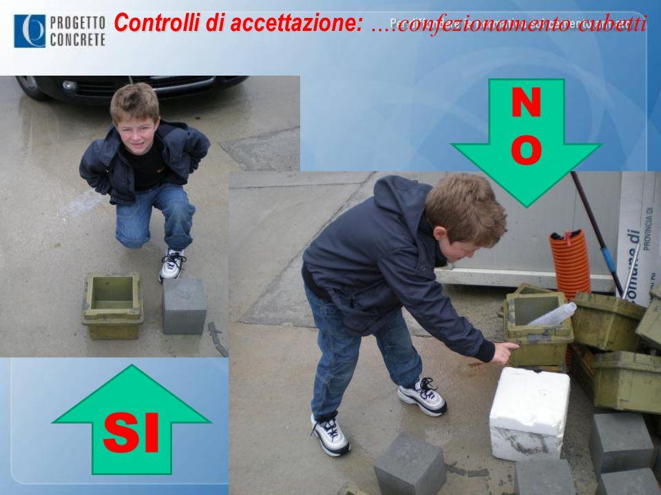 NONO SI Controlli di accettazione: Controlli di accettazione: ….confezionamento cubetti