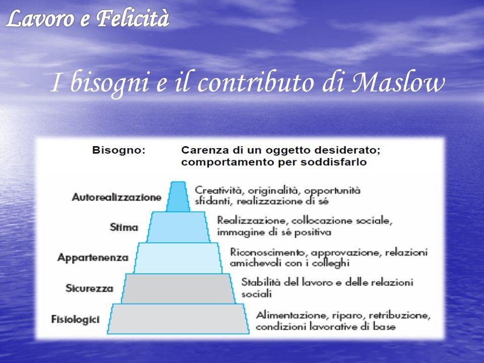 I bisogni e il contributo di Maslow