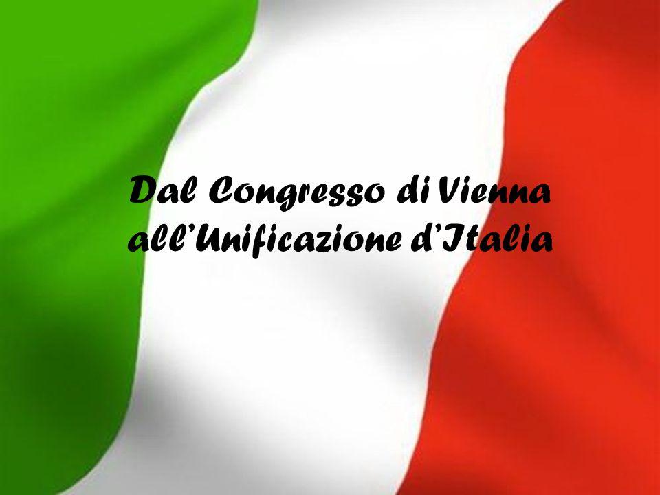 Dal Congresso di Vienna allUnificazione dItalia