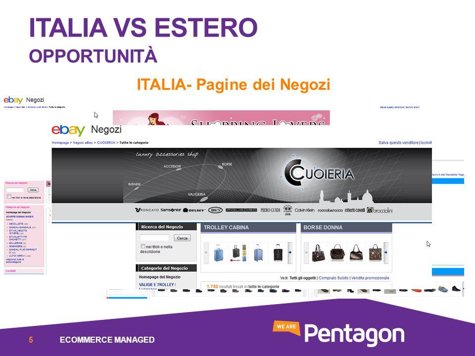 ITALIA VS ESTERO OPPORTUNITÀ ITALIA- Pagine dei Negozi ECOMMERCE MANAGED5