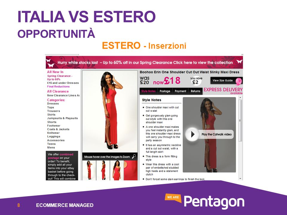 ITALIA VS ESTERO OPPORTUNITÀ ESTERO - Inserzioni ECOMMERCE MANAGED8