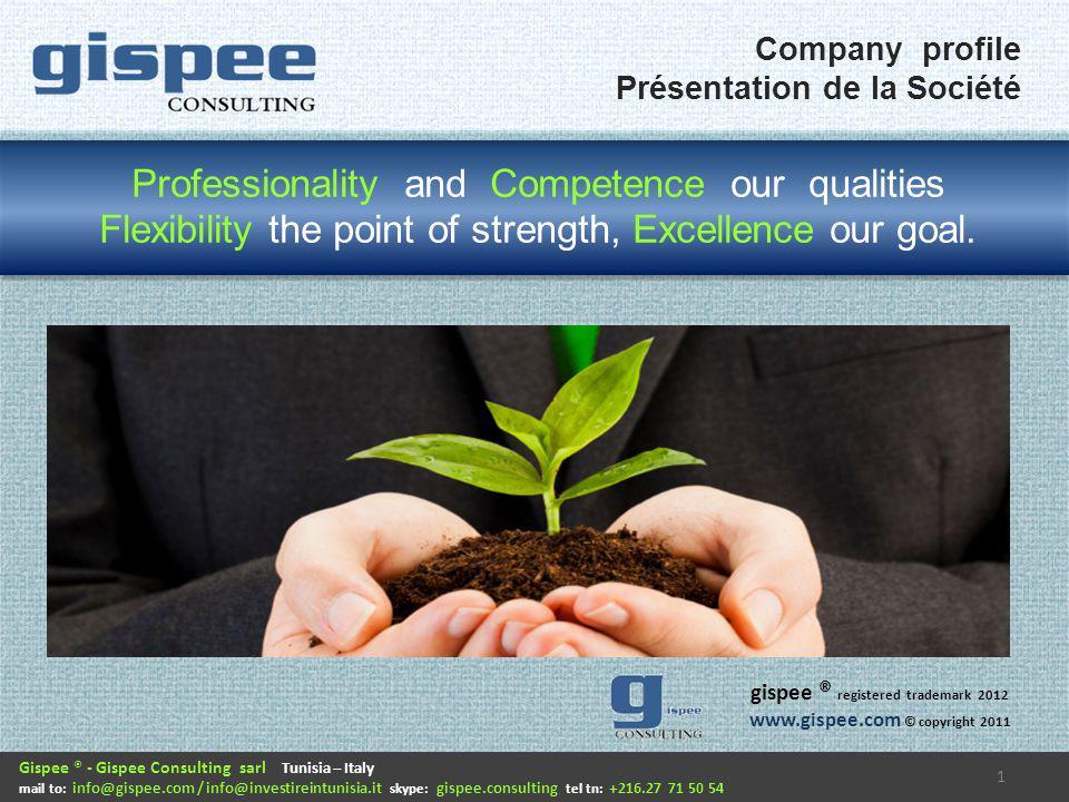Gispee consulting è una società di consulenza nata a Torino, in Italia, con lobiettivo di seguire in prevalenza progetti di riorganizzazione aziendale e miglioramento continuo nel settore automotive e produzione di componentistica.