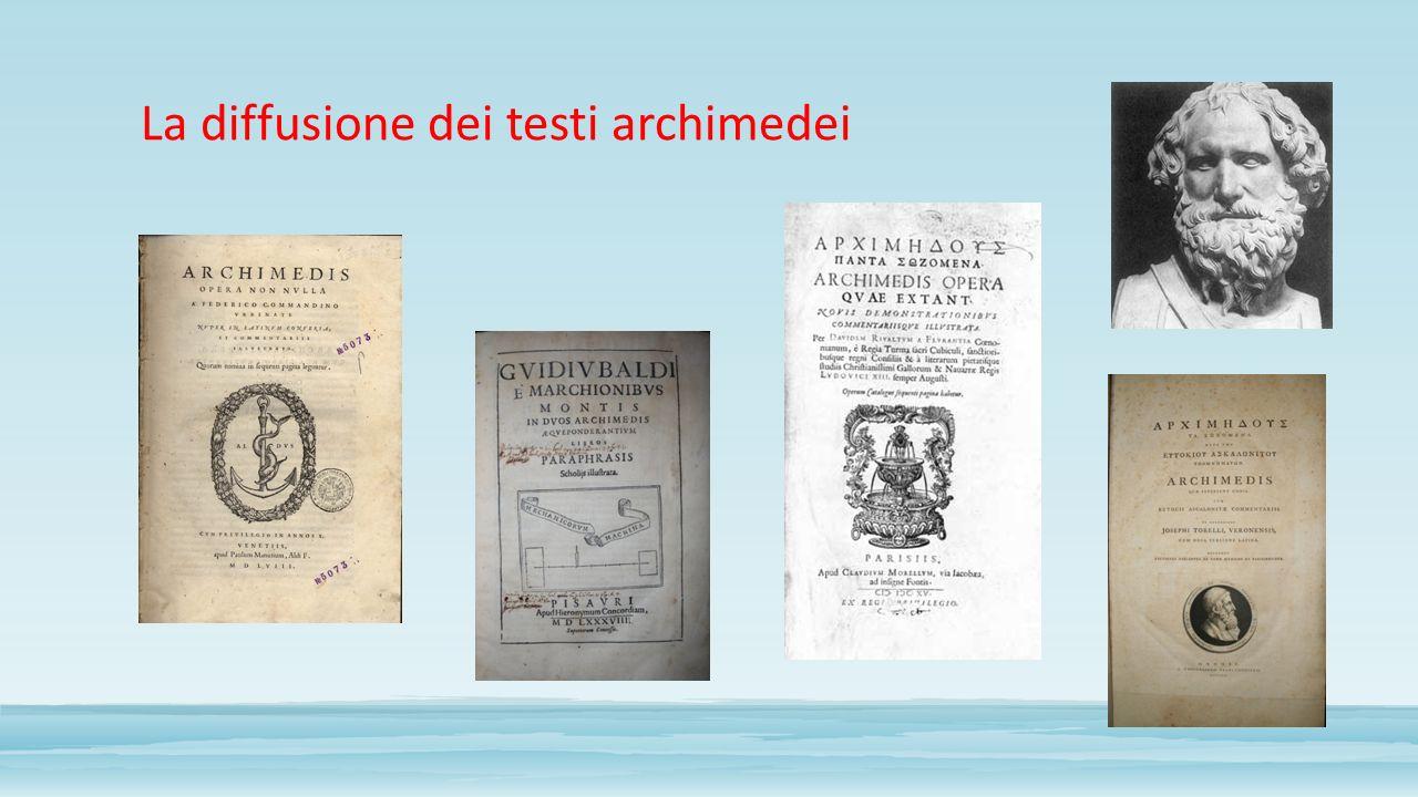 La diffusione dei testi archimedei