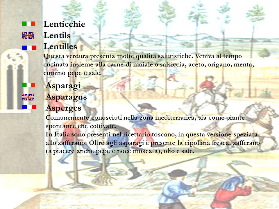 22 Lenticchie Lentils Lentilles Questa verdura presenta molte qualità salutistiche. Veniva al tempo cucinata insieme alla carne di maiale o salsiccia,