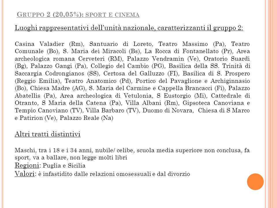 Luoghi rappresentativi dellunità nazionale, caratterizzanti il gruppo 2: Casina Valadier (Rm), Santuario di Loreto, Teatro Massimo (Pa), Teatro Comuna