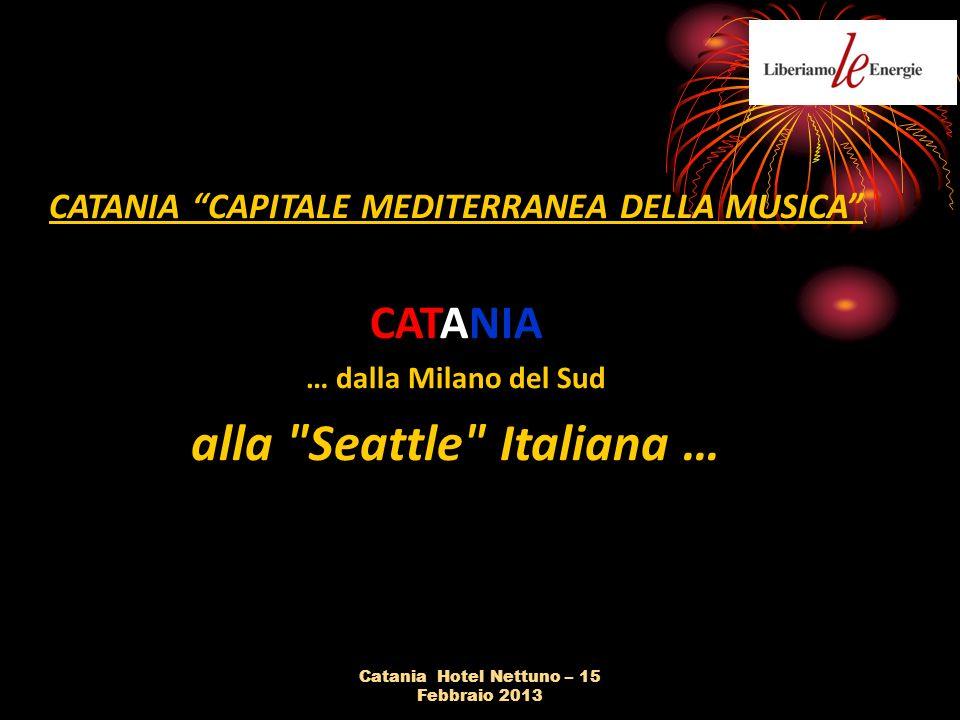 CATANIA CAPITALE MEDITERRANEA DELLA MUSICA CATANIA … dalla Milano del Sud alla Seattle Italiana …