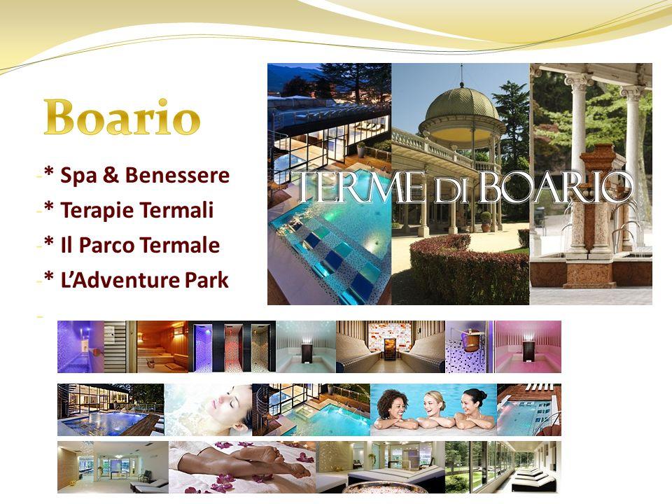 - * Spa & Benessere - * Terapie Termali - * Il Parco Termale - * LAdventure Park