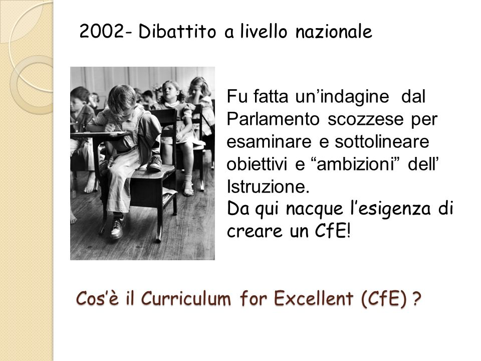 Il Curriculum è progettato per dare spessore e respiro ad un apprendimento che va dai 3 ai 16 anni.