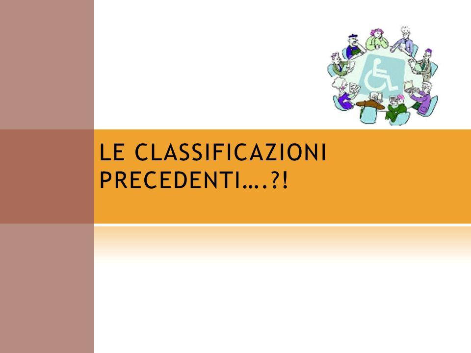 LE CLASSIFICAZIONI PRECEDENTI….?!