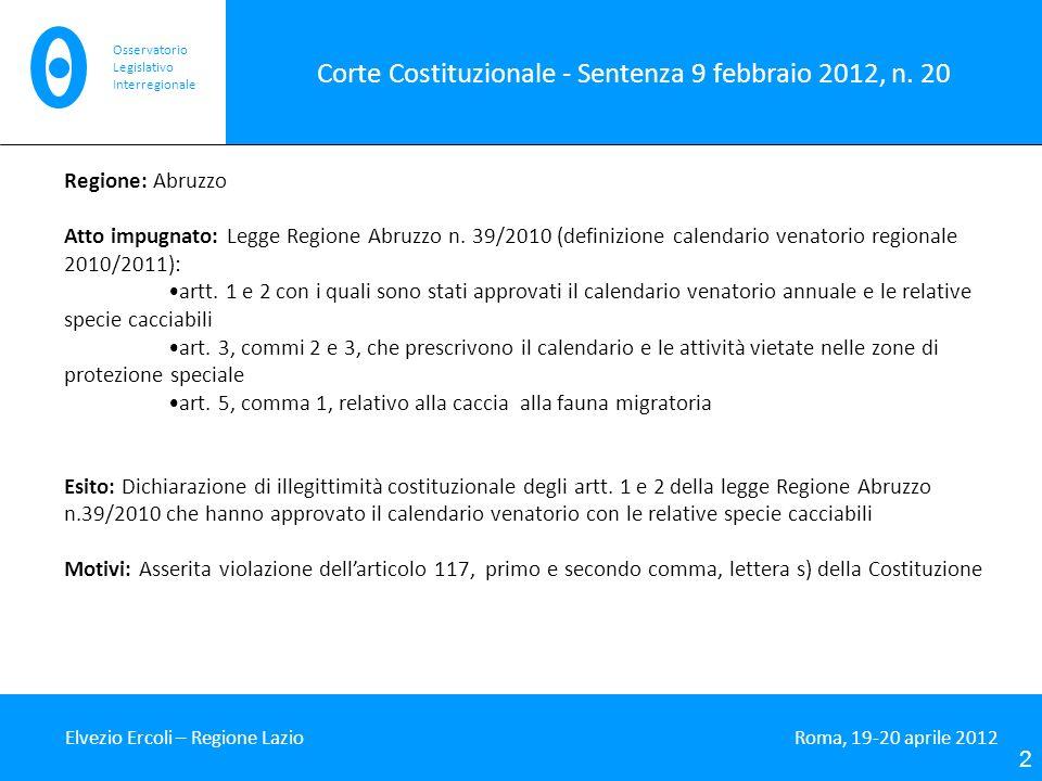 Corte Costituzionale - Sentenza 9 febbraio 2012, n.