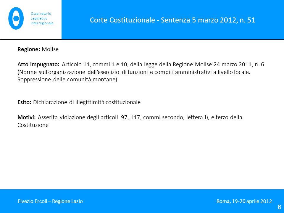 Corte Costituzionale - Sentenza 5 marzo 2012, n.