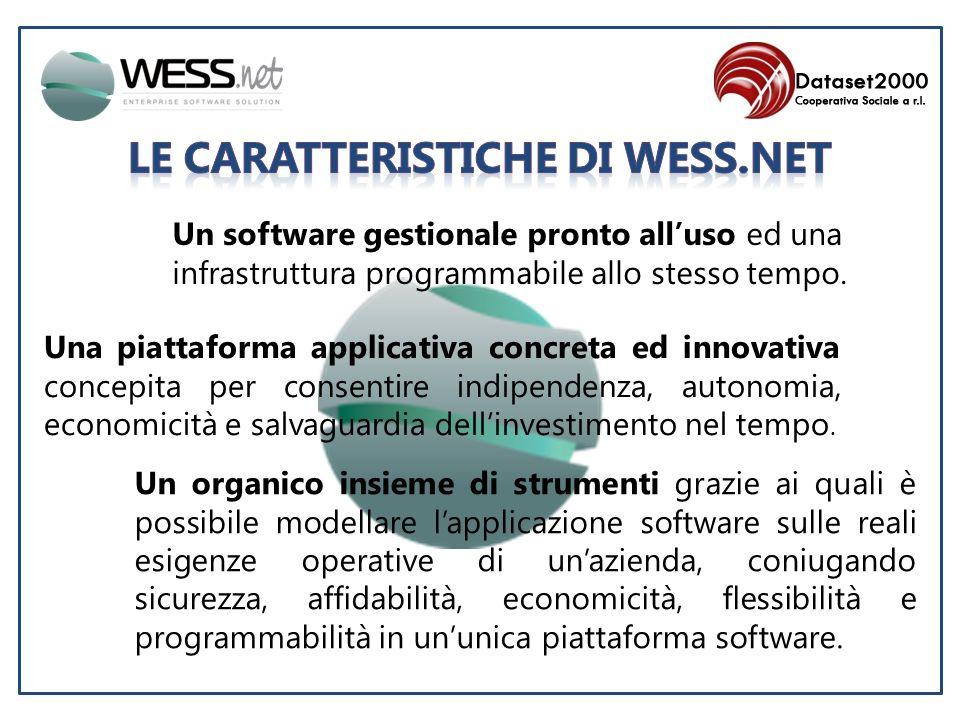 Un software gestionale pronto alluso ed una infrastruttura programmabile allo stesso tempo.