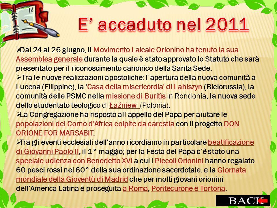 Dal 24 al 26 giugno, il Movimento Laicale Orionino ha tenuto la sua Assemblea generale durante la quale è stato approvato lo Statuto che sarà presenta