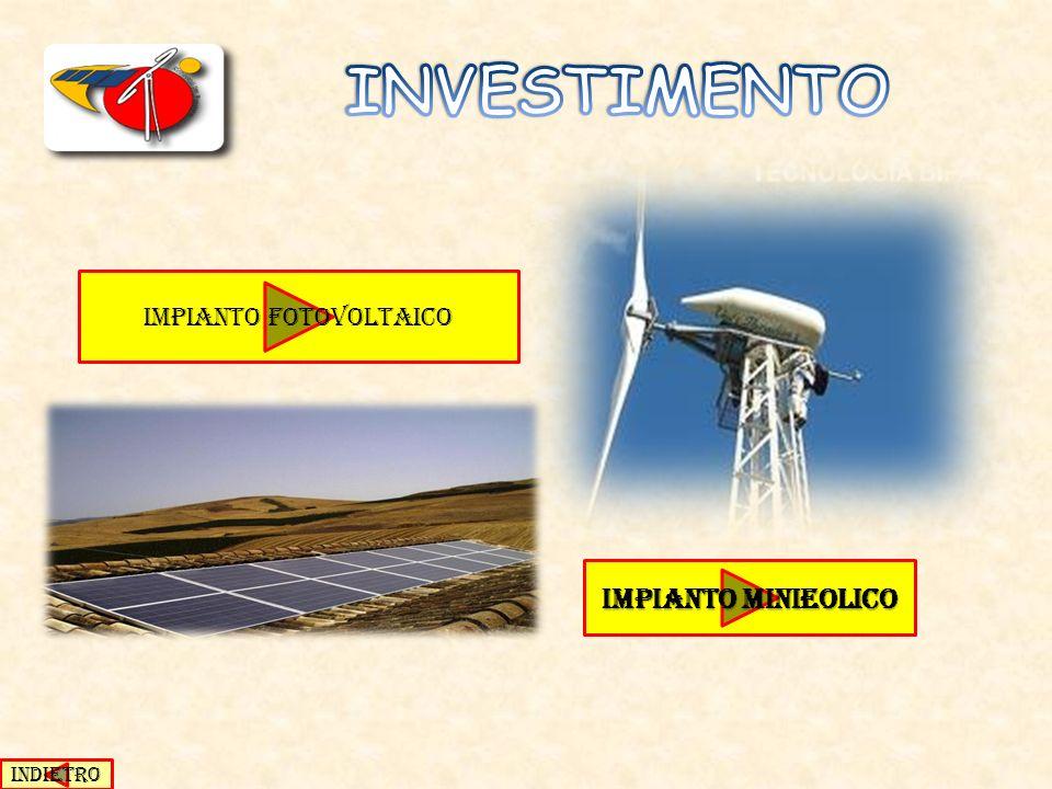 Impianto minieolico Impianto minieolico IMPIANTO FOTOVOLTAICO INDIETRO