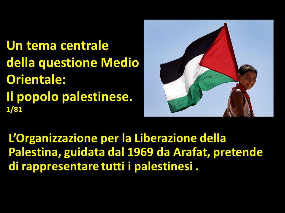 Un tema centrale della questione Medio Orientale: Il popolo palestinese.