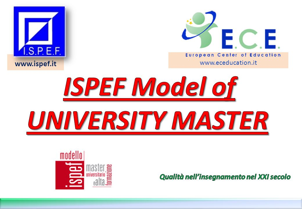 www.ispef.it www.eceducation.it