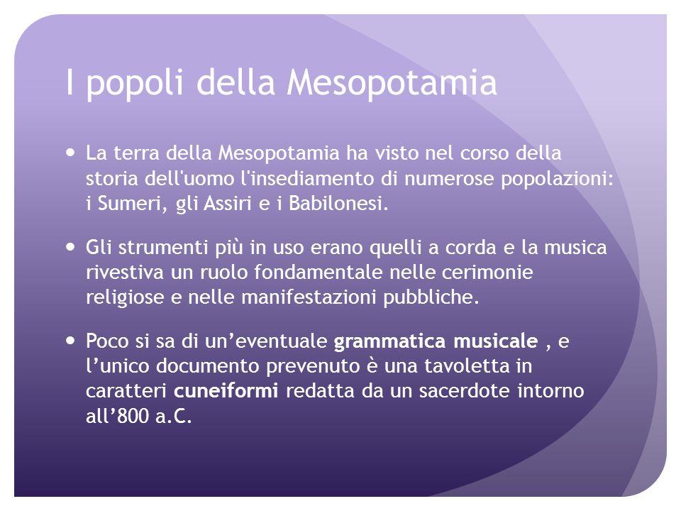 Strumenti greci Aulos (strumento a fiato) Lyra (strumento a corda) Cetra (strumento a corda)