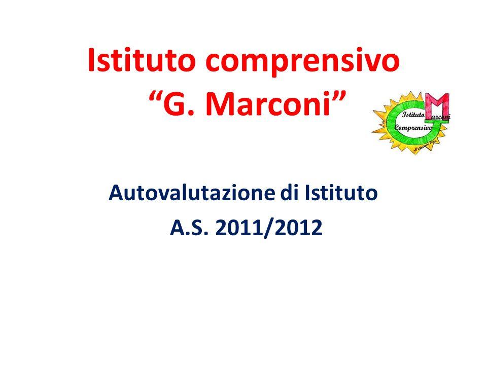 Istituto comprensivo G. Marconi Autovalutazione di Istituto A.S. 2011/2012