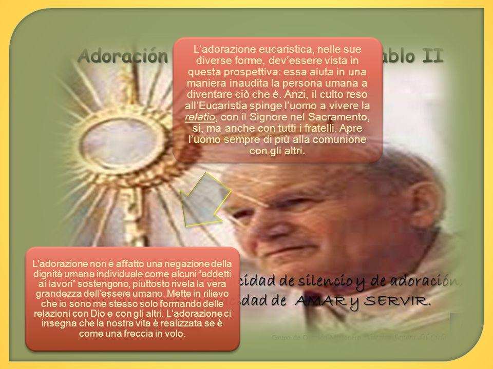 Qui ci fermiamo, chiudendo così la terza parte sul culto dellEucaristia fuori della Messa; a partire sempre dalla EdE di Giovanni Paolo II.