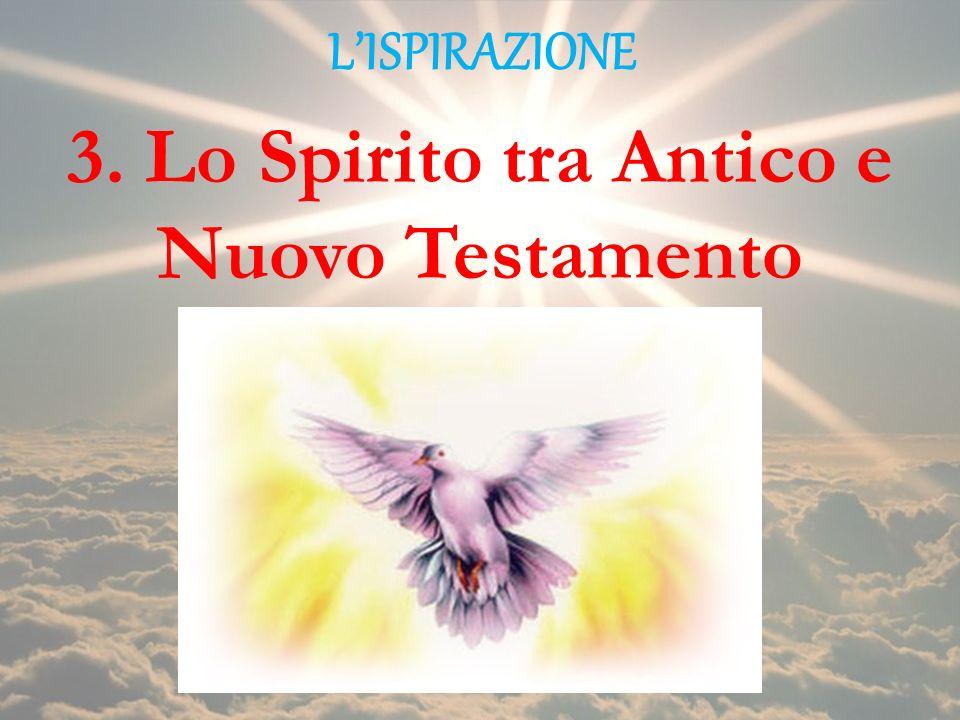 LISPIRAZIONE 3. Lo Spirito tra Antico e Nuovo Testamento