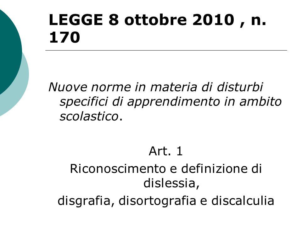 LEGGE 8 ottobre 2010, n.