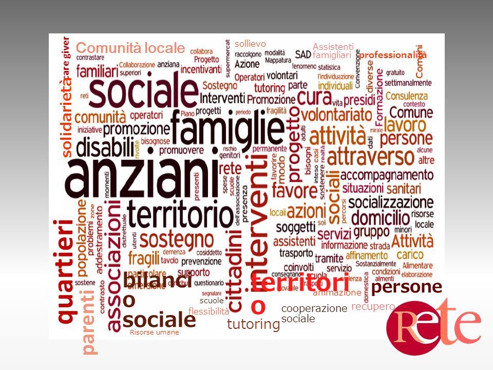 bilanci o sociale territori o Comunità locale professionalità persone parenti quartieri care giver solidarietà flessibilità animazione Assistenti fami