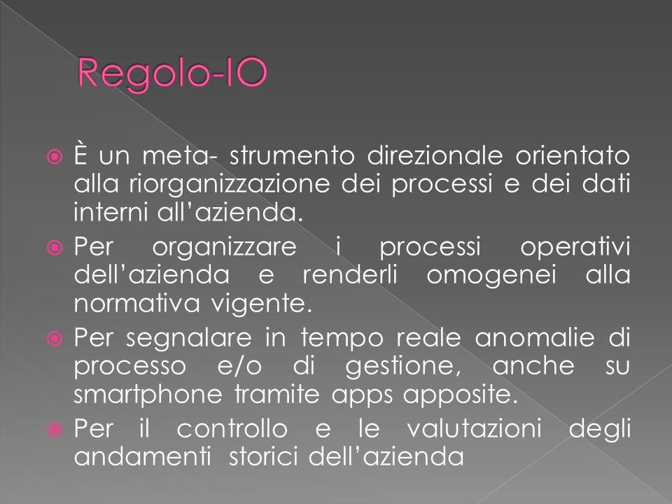 Regolo-IO viene alimentato dai dati del o dei sistemi informativi utilizzati dallazienda.