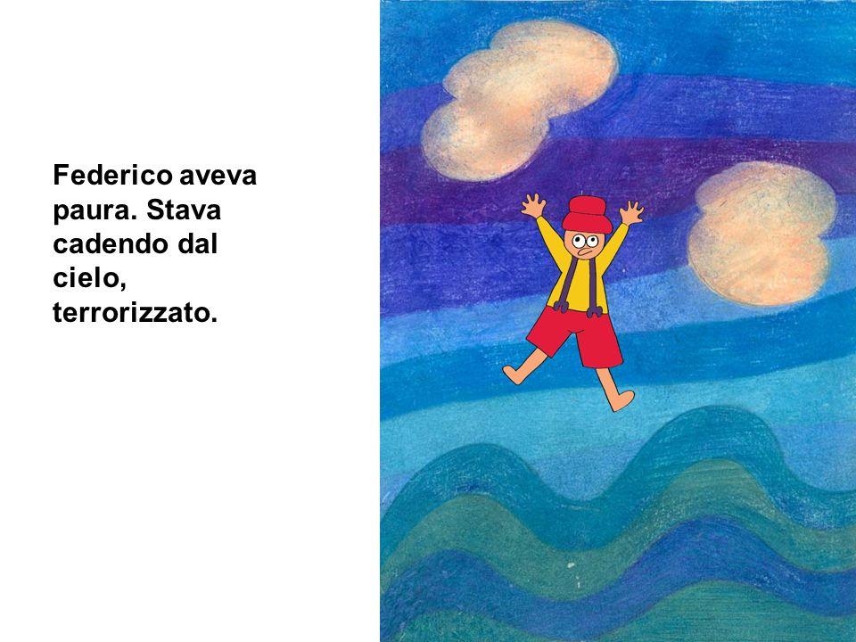Federico stava cadendo e precipitò nel mare.Nel mare incontrò un grandissimo squalo che lo stava….