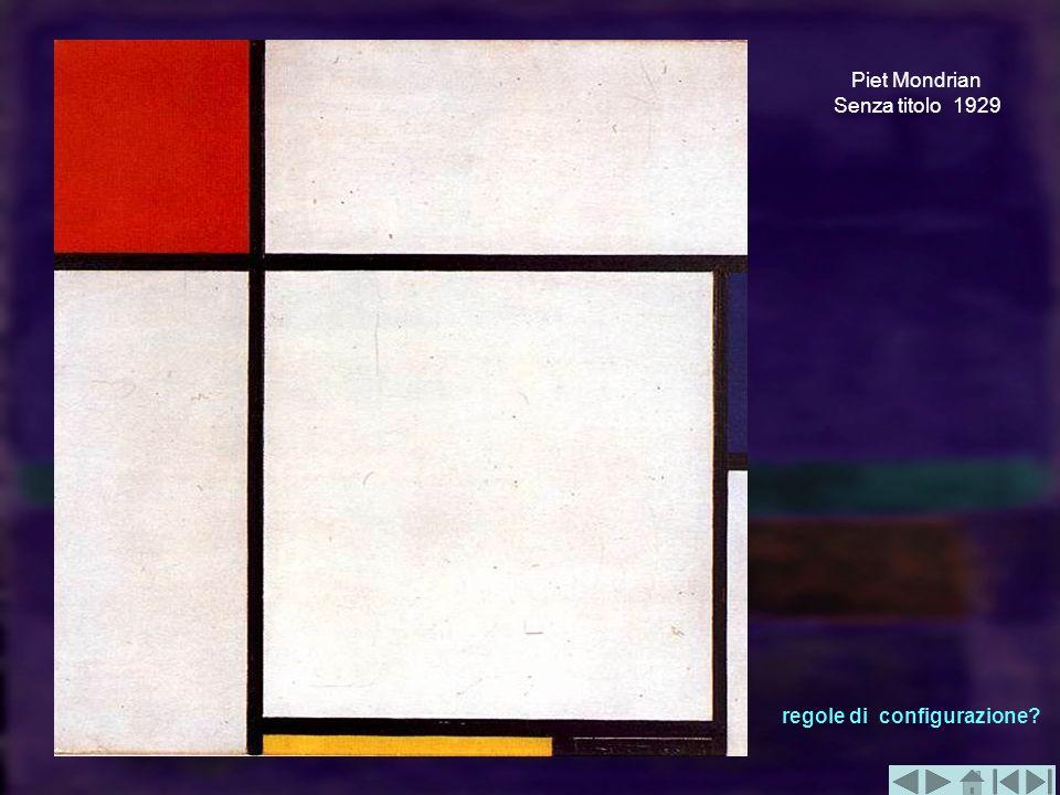 Piet Mondrian Senza titolo 1929 regole di configurazione?