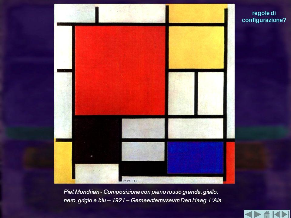 Piet Mondrian - Composizione con piano rosso grande, giallo, nero, grigio e blu – 1921 – Gemeentemuseum Den Haag, LAia. regole di configurazione?