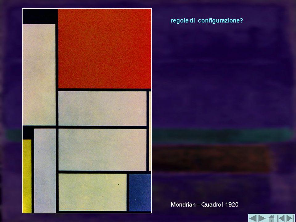 Mondrian – Quadro I 1920 regole di configurazione?